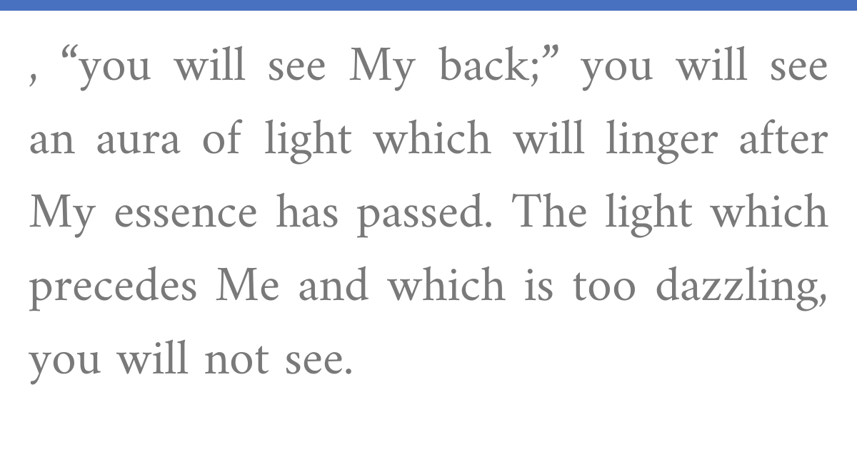 Chizkuni, Exodus 33:23