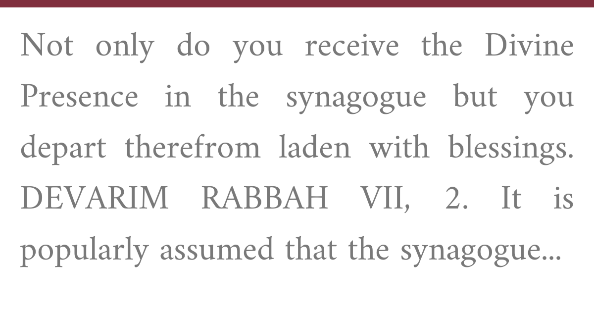 Contemporary Halakhic Problems, Vol I, Part I, CHAPTER III The Synagogue