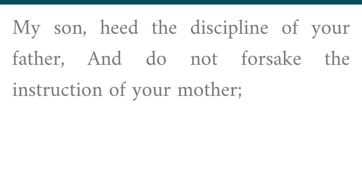 Proverbs 1:8