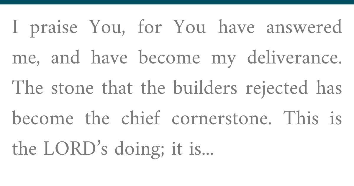Psalms 118 21-24
