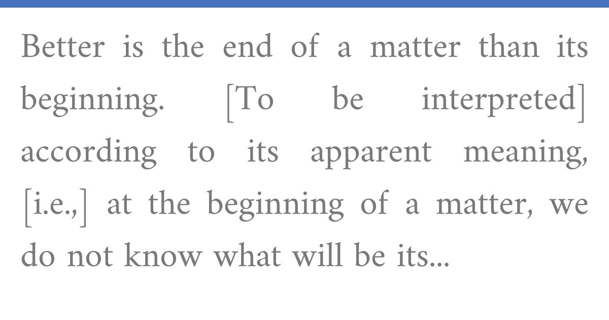 Rashi on Ecclesiastes 7:8