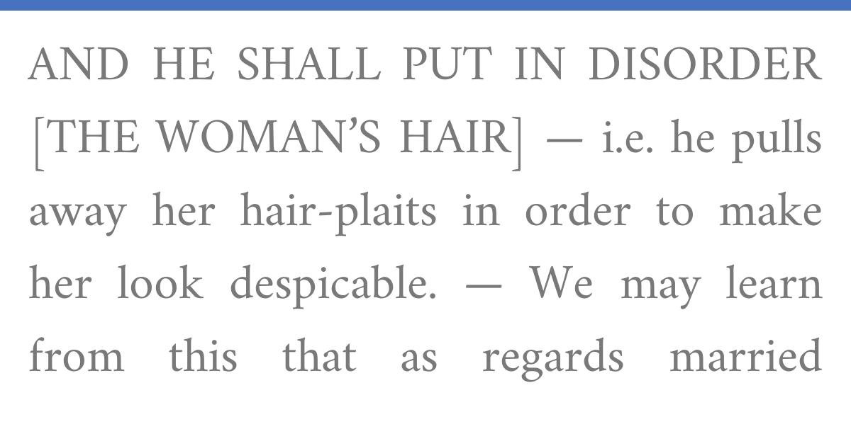 Rashi on Numbers 5:18:2 with Talmud